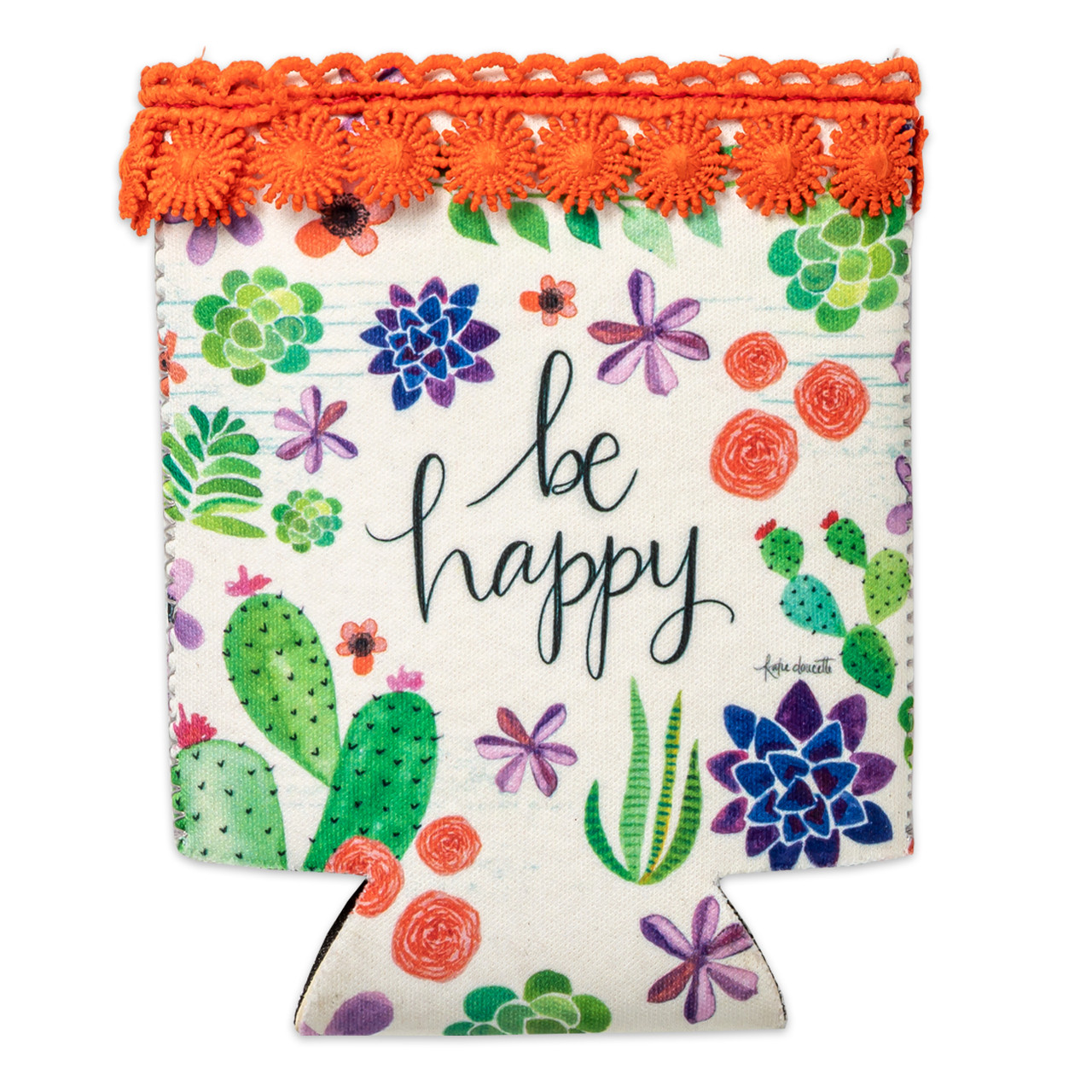 be happy drink sleeve inspirational gift