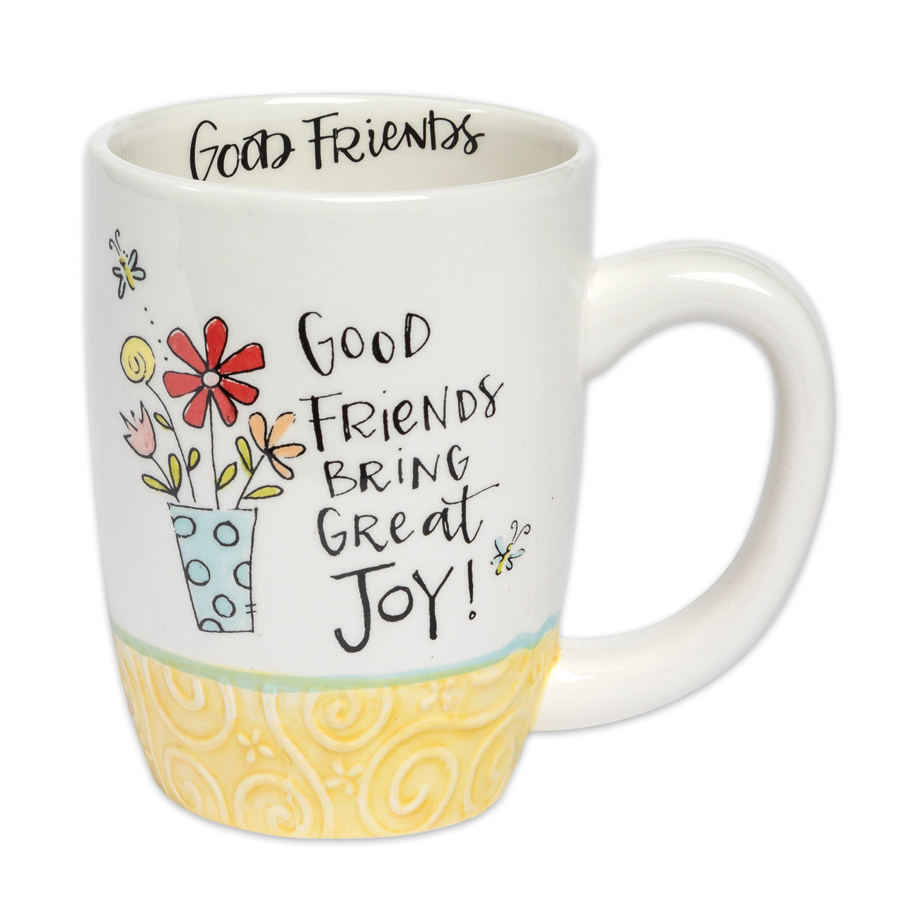 good friends ceramic mug inspirational gift