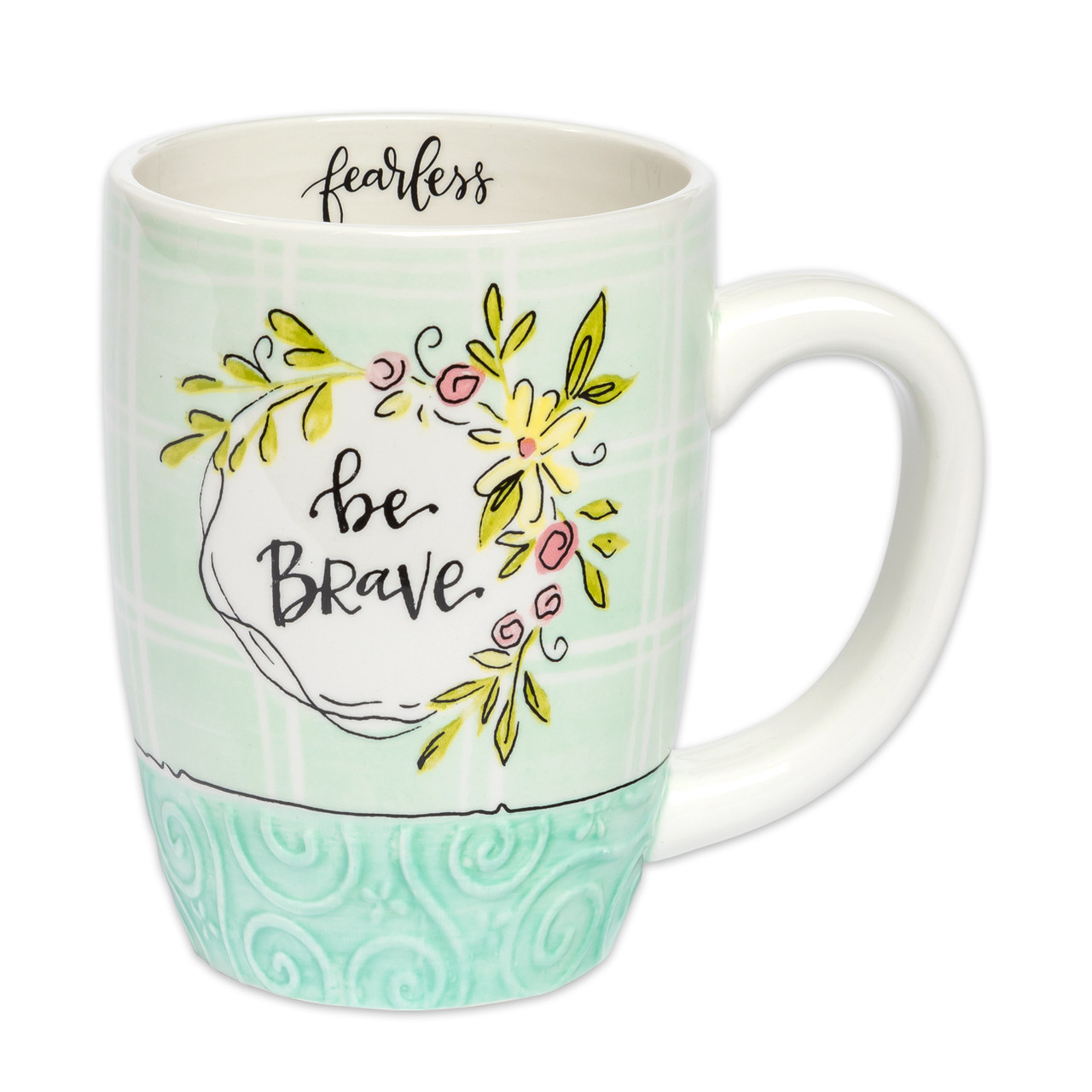 be brave ceramic mug inspirational gift