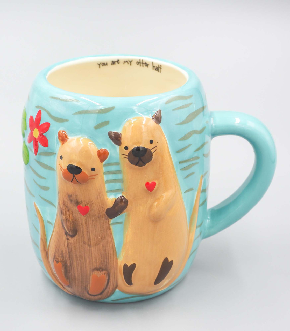 natural life otter folk mug