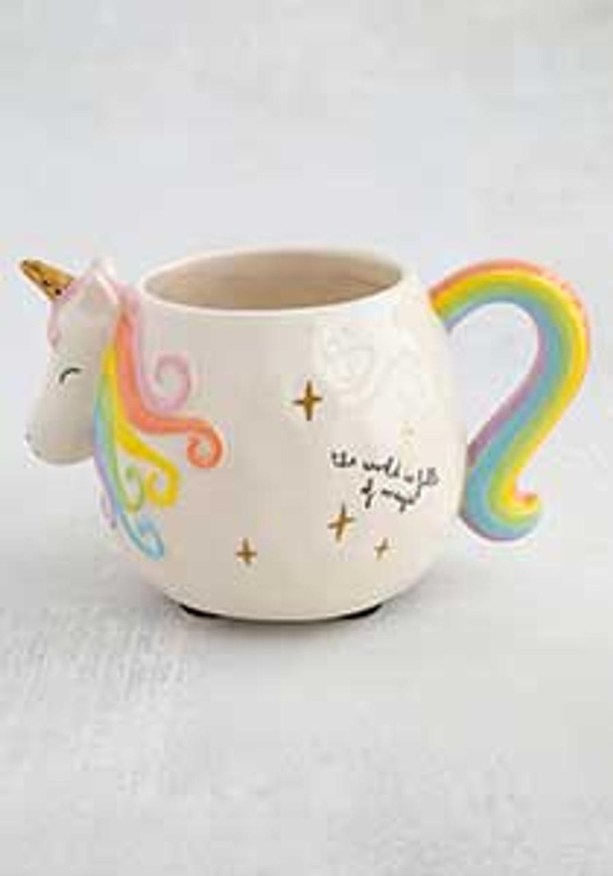 Natural life the world is full of magic pastel unicorn mug