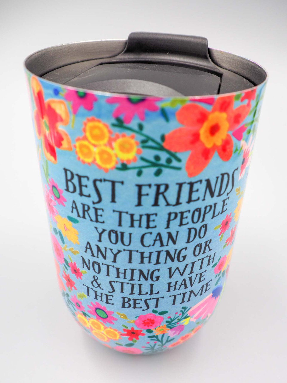 natural life best friends wine tumbler