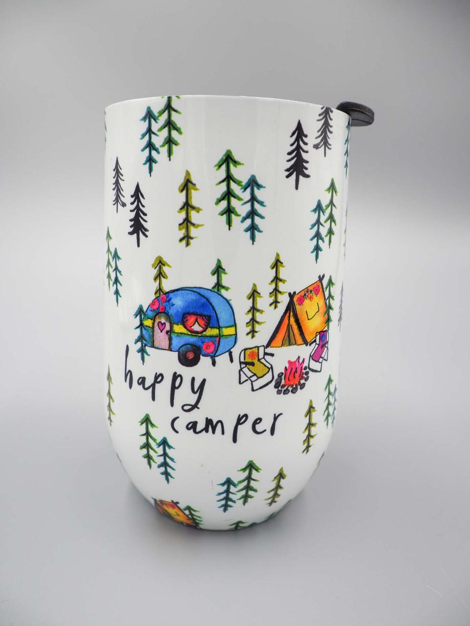 natural life happy camper wine tumbler