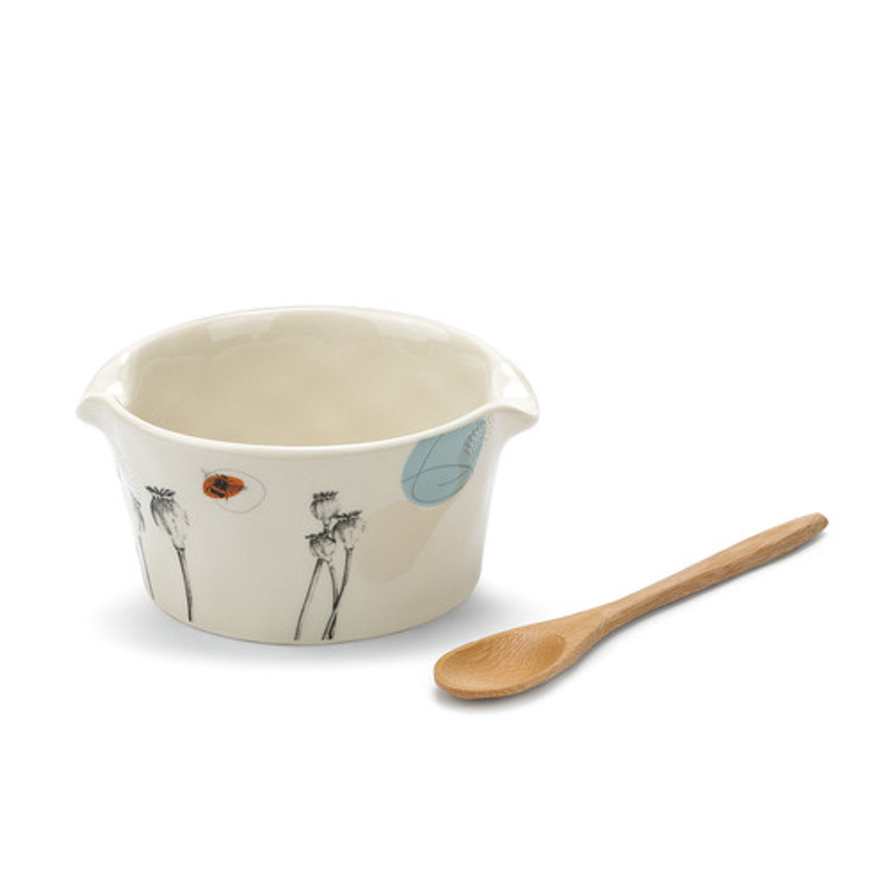 Give the Nibbles Appetizer Bowl with Spoon to a cook or hostess in your life who likes to make things fun, to add little bits of humor wherever possible. Great for Thanksgiving, Christmas, or anytime. You can also buy this bowl for yourself.