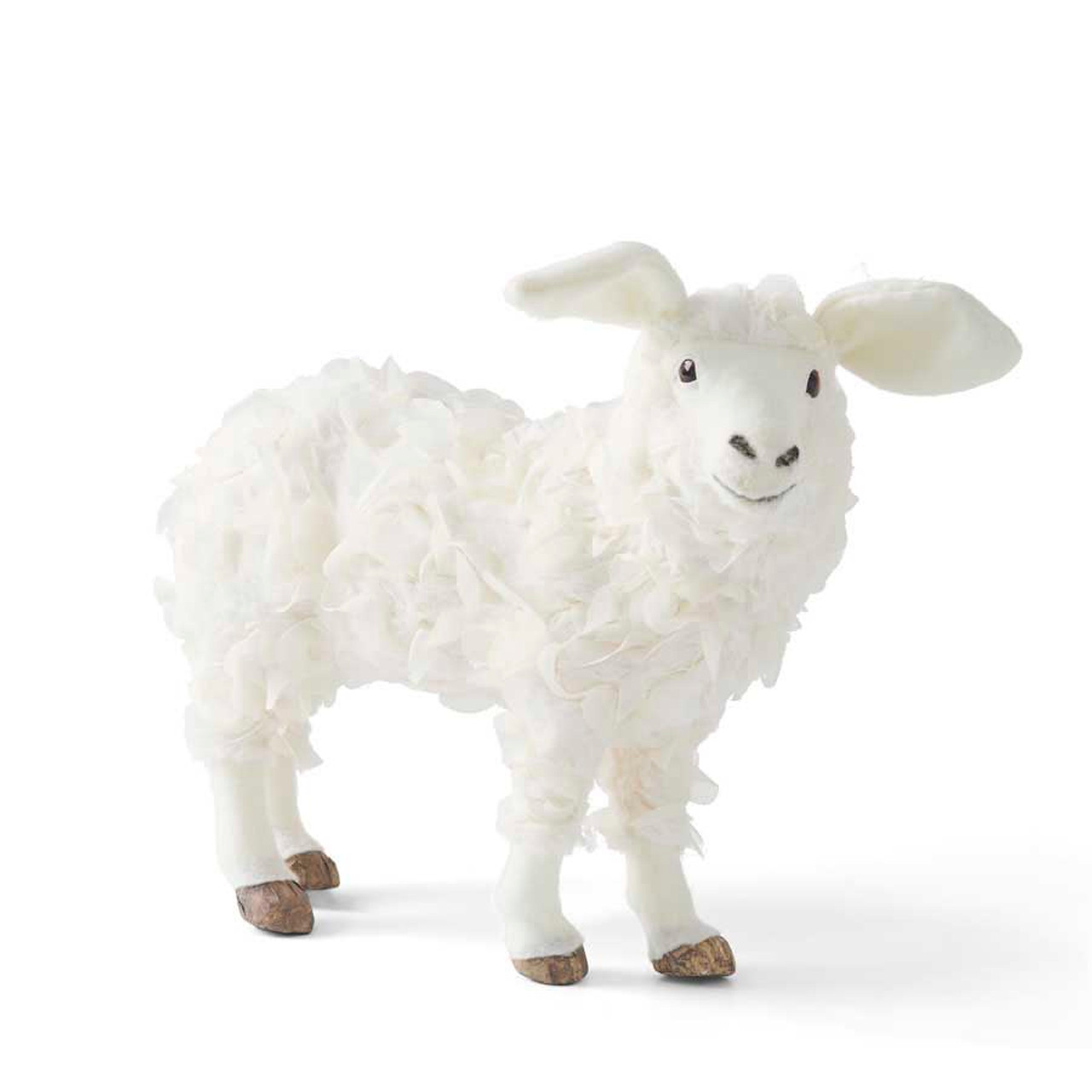 Soft & Fluffy Free-Standing Sheep. Could be used as kids room decor or seasonal decor. Available in 2 sizes.