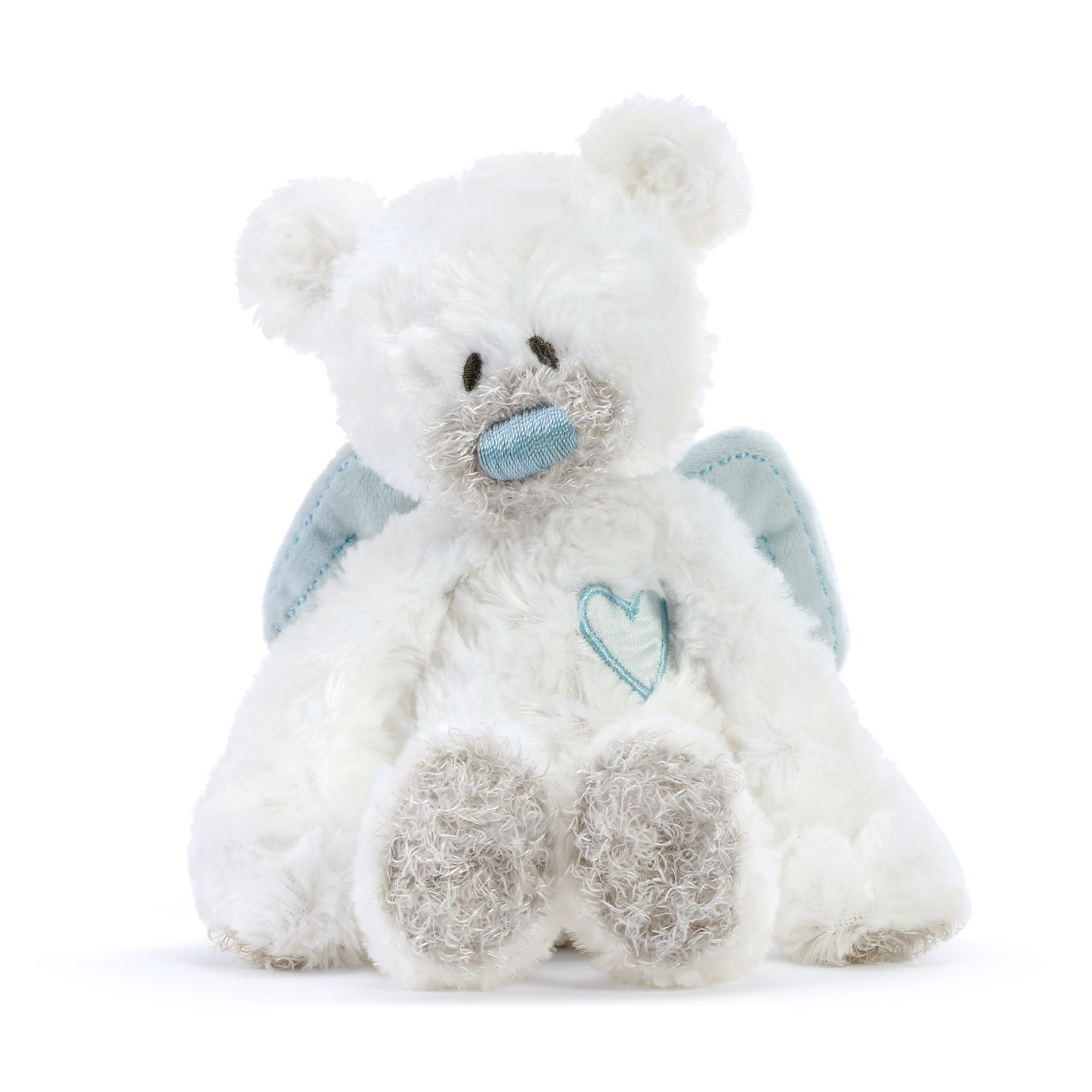 demdaco blue guardian angel baby rattle