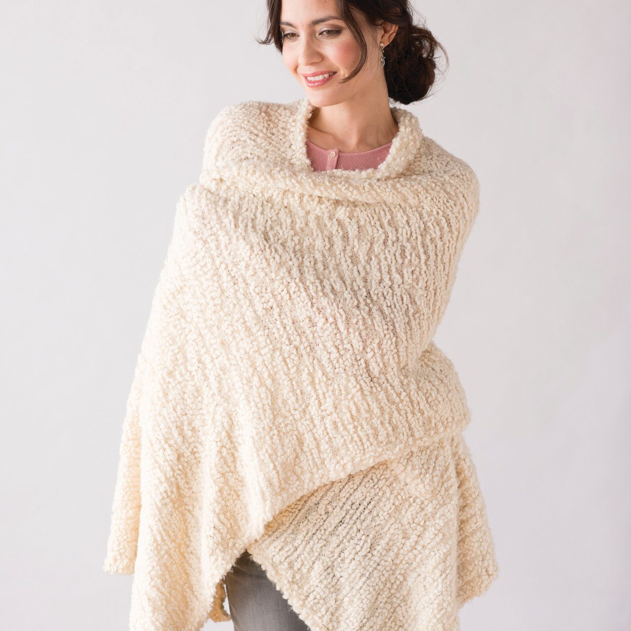 taupe giving shawl demdaco gift