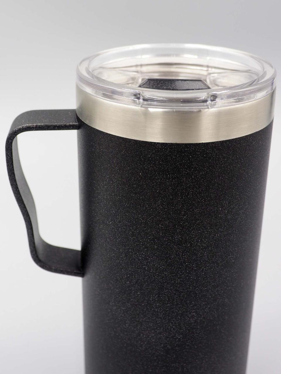 pure drinkware gunmetal 18oz coffee mug