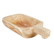 This tray is made of durable Paulownia wood and can be used for candles, food, and centerpieces. Natural Wash, Eco-friendly, Lightweight for everyday use, Hand carved by skilled artisans.