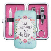 have courage and be kind manicure set brownlow gifts