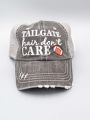 tailgate hair don't care trucker hat katydid
