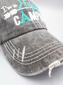 happy camper teal trucker hat
