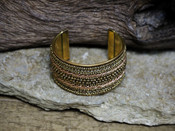 Gold Chain Beaded Cuff