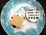 "This classic paperweight features the phrase, ""Today is going to be the best day ever."