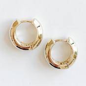 Gold Huggie Hoop Earrings, Nickel and lead free.