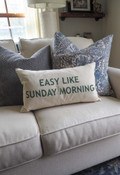 easy like Sunday morning lumbar pillow indaba