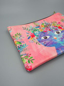 fancy cat large zippered pouch studio oh