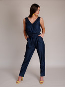 Cross Neck Jumpsuit