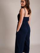 Navy Linen Jumpsuit
