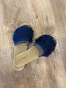 eyelash slip on slide shoe navy