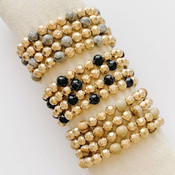 Hammered Gold Beaded Bracelet