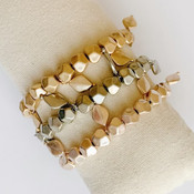 Metal Beaded Stretch Bracelet
