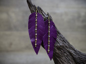 Leather Obsession Feather Earring