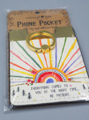 everything comes to you at the right time, be patient phone pocket ring natural life