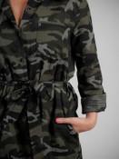 button down camp dress belted waist pockets