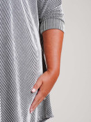 plus clothing black and white stripe tunic