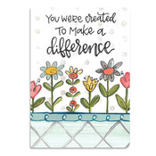 you were created to make a difference softcover journal brownlow gifts