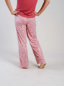 mauve and white floral lounge pants
