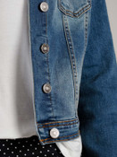 blue medium wash jean jacket kancan