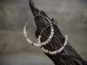 Large Beaded Hoop Earring