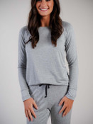 grey raglan sleeve top loungewear