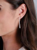 beaded pearl hoop earring