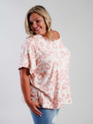 pink leopard print poncho plus clothing curvy