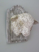 lamb head plaque wall hanging