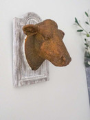 heifer head on plaque wall hanging