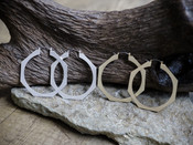 Thick Octagon Hoop Earring