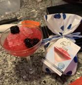 blueberry-pomegrante slushie