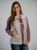 reversible vest quilted sherpa