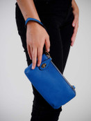 kendall crossbody wristlet in royal blue jen and co