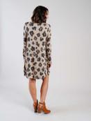 leopard print shift dress Mudpie