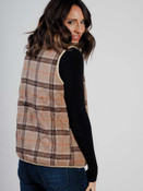 reversable brown plaid vest