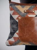 myra bag shoulder bag with faux leather detail
