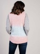 Tie dye vest pink and blue Jen and Co