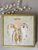 Be Still Angel Gold Embellished Mini Framed Canvas