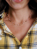 gold and pearl dainty necklace