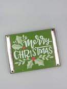 merry christmas wooden block sentiment